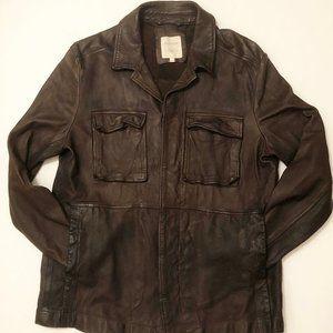 Billy Reid Leather Shirt Jacket